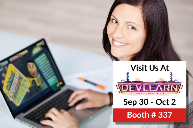 Witness the power of Gamification and Game Based Training with Indusgeeks at DevLearn 2015!