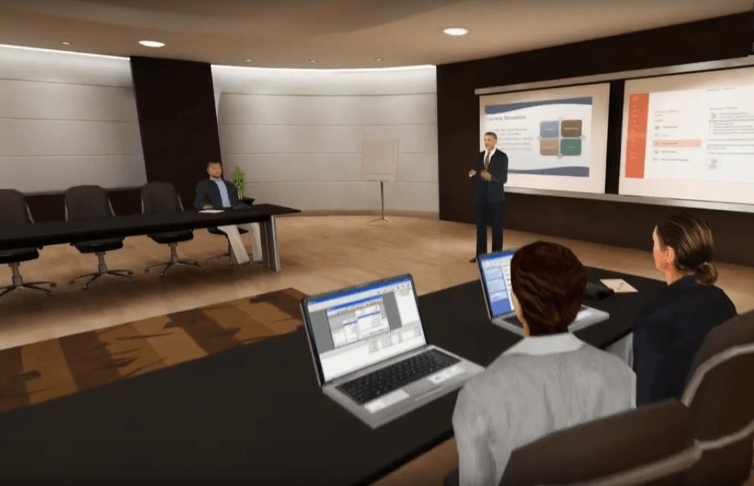 Sales training simulations